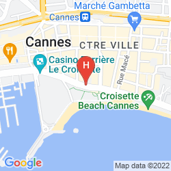 Map BARRIERE LE MAJESTIC CANNES
