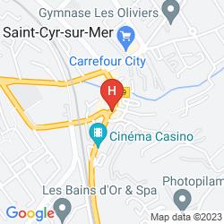 Map DOLCE FREGATE PROVENCE