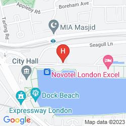 Map CROWNE PLAZA LONDON DOCKLANDS