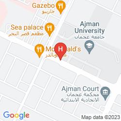 Map AJMAN BEACH