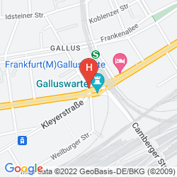 Map AN DER GALLUSWARTE