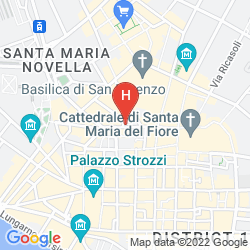 Map CERRETANI FIRENZE - MGALLERY BY SOFITEL
