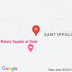 Map RELAIS GUADO AL SOLE