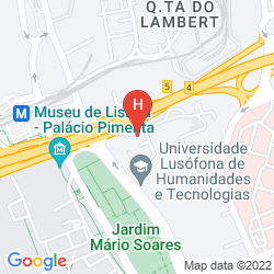Map RADISSON BLU HOTEL, LISBON