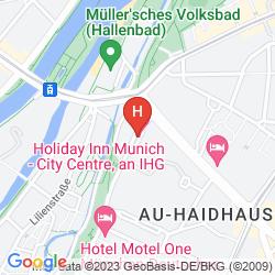 Map HOLIDAY INN MUNICH CITY CENTRE
