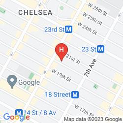 Map CHELSEA INTERNATIONAL HOSTEL