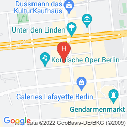 Map THE WESTIN GRAND BERLIN