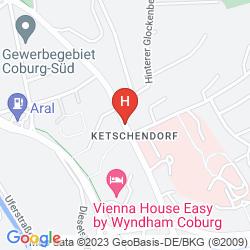 Map VIENNA HOUSE EASY COBURG