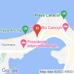 Map BEACHSCAPE CANCUN KIN HA VILLAS & SUITES