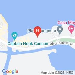 Map AQUAMARINA BEACH RESORT