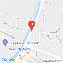Map RIVERSIDE HOTEL BED AND BREAKFAST