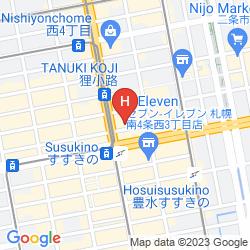 Map CAPSULE INN SAPPORO - HOSTEL