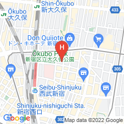 Map CAPSULE HOTEL SHINJUKU 510