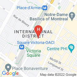Map INTERCONTINENTAL MONTREAL