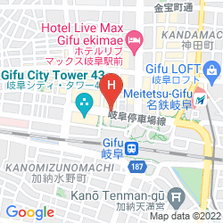Map COMFORT HOTEL GIFU