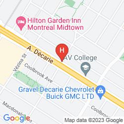 Map RAMADA PLAZA MONTREAL