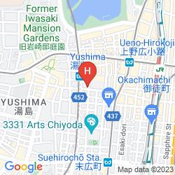Map UENO FIRST CITY HOTEL