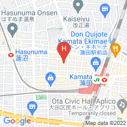 Map URBAIN TOKYO HANEDA KAMATA