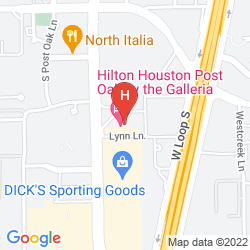 Map HILTON HOUSTON POST OAK BY THE GALLERIA