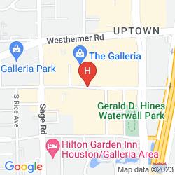 Map THE WESTIN GALLERIA HOUSTON