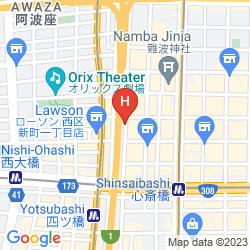 Map FOGAINN SHINSAIBASHI