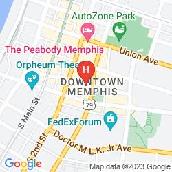 Map HAMPTON INN & SUITES MEMPHIS-BEALE STREET