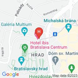 Map IBIS BRATISLAVA CENTRUM