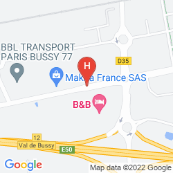 Map B&B HÔTEL MARNE LA VALLÉE