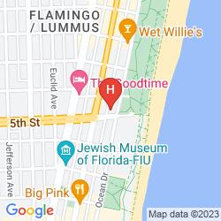 Map BENTLEY HOTEL SOUTH BEACH