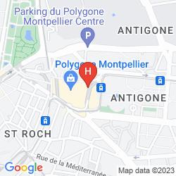 Map PULLMAN MONTPELLIER ANTIGONE