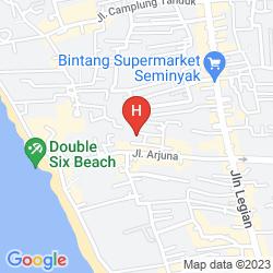 Map VILLA COCO BALI