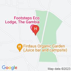 Map FOOTSTEPS ECO-LODGE
