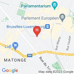 Map THON RESIDENCE PARNASSE