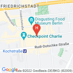 Map MERCURE HOTEL & RESIDENZ BERLIN CHECKPOINT CHARLIE