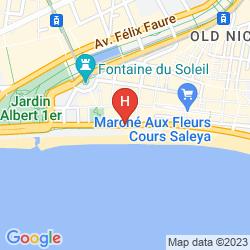 Map MERCURE NICE MARCHE AUX FLEURS