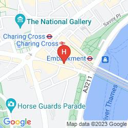 Map CITADINES PRESTIGE TRAFALGAR SQUARE LONDON