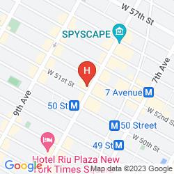 Map HAMPTON INN MANHATTAN-TIMES SQUARE NORTH