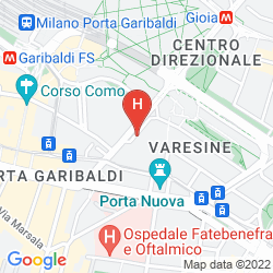 Map NH COLLECTION MILANO PORTA NUOVA