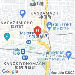 Map HOTEL IL CREDO GIFU