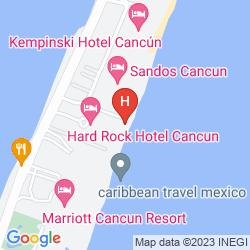 Map BE LIVE GRAND CANCUN
