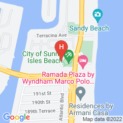 Map OCEAN RESERVE LUXURY SUITES SUNNY ISLES BEACH
