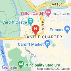 Map HOLIDAY INN CARDIFF CITY CENTRE
