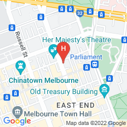 Map RYDGES MELBOURNE