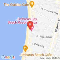 Map JIMBARAN BAY BEACH RESORT & SPA