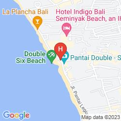 Map DOUBLE-SIX LUXURY HOTEL SEMINYAK