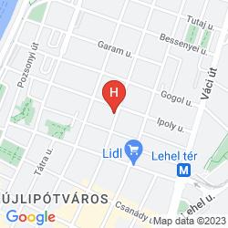 Map ADINA APARTMENT HOTEL BUDAPEST
