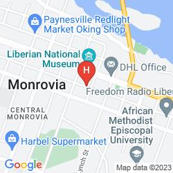 Map CITY HOTEL MONROVIA LIBERIA