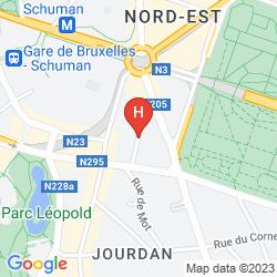 Map HOLIDAY INN BRUSSELS-SCHUMAN