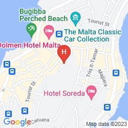 Map MAVINA HOTEL AND APARTMENTS