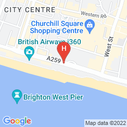 Map HOLIDAY INN BRIGHTON SEAFRONT